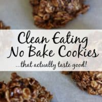 Clean Eating No Bake Cookies…That Actually Taste Good!