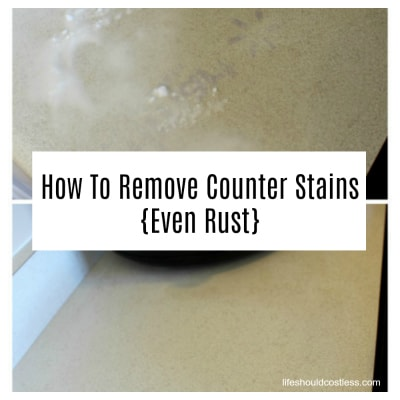How To Remove Counter Stains, Even Rust