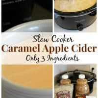 3 Ingredient Slow Cooker Caramel Apple Cider