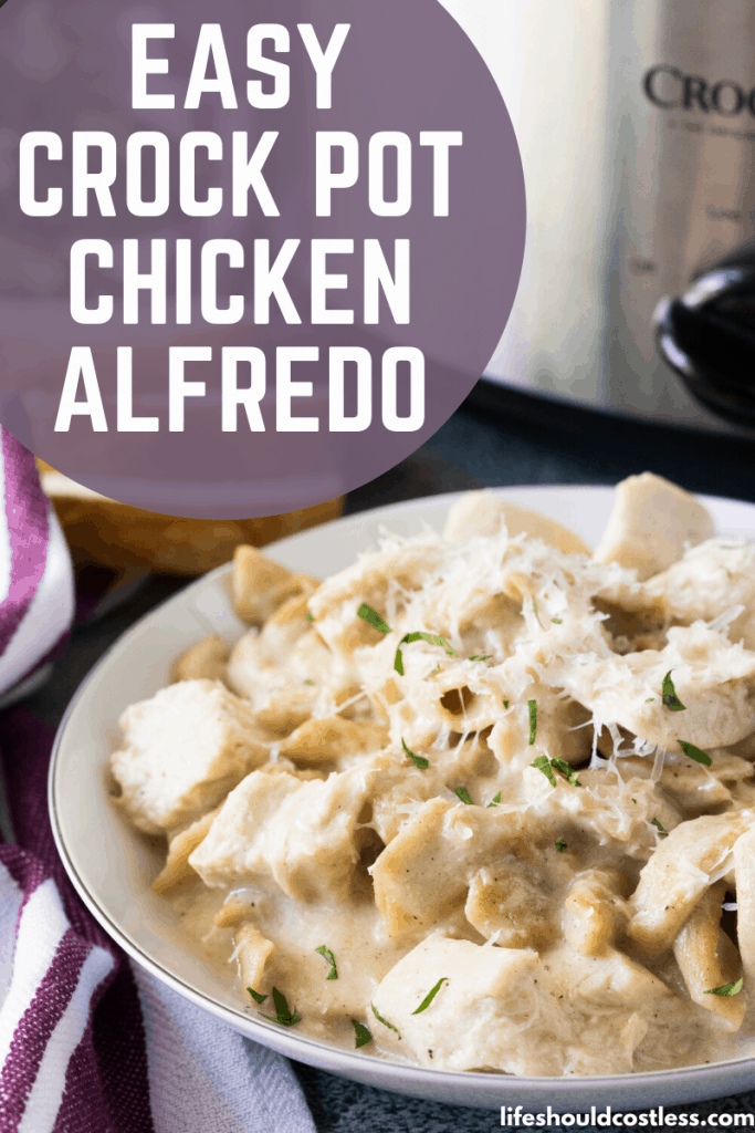 how to make chicken alfredo in a crock pot. lifeshouldcostless.com