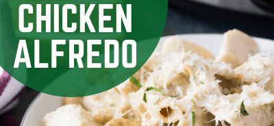 slow cooker chicken alfredo with jar sauce. lifeshouldcostless.com
