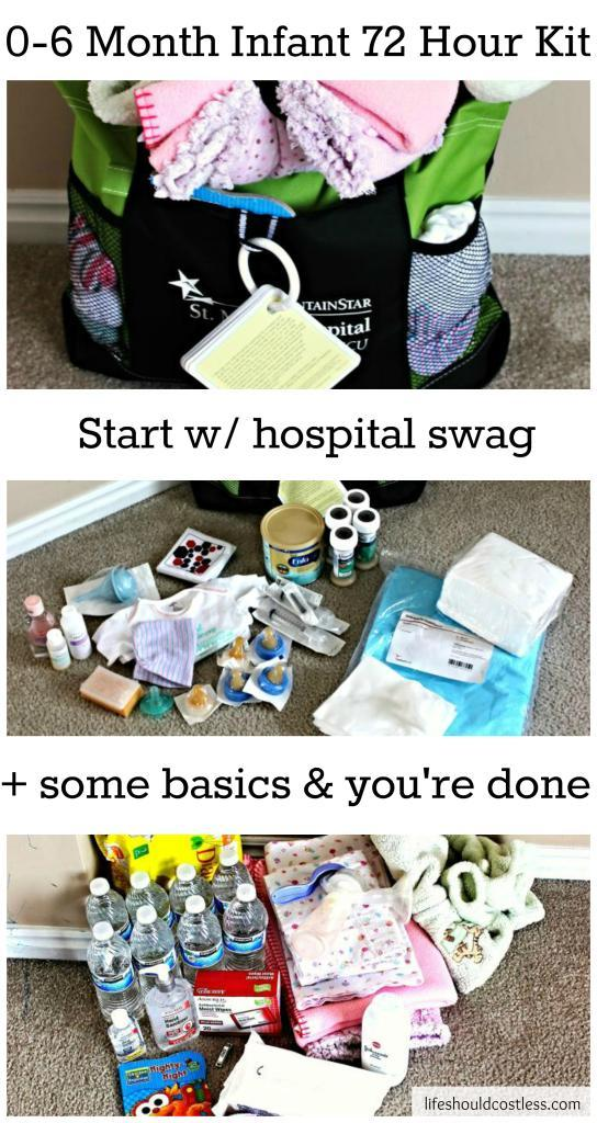 http://www.lifeshouldcostless.com/2015/01/0-6-month-infant-72-hour-kit.html