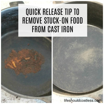 Quick Release Tip To Remove Stuck-On Food From Cast Iron