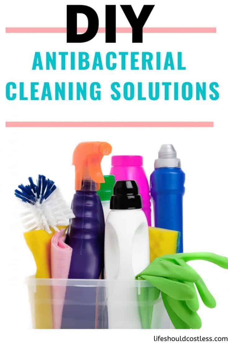 DIY Antibacterial Cleaning Solutions. If sanitizing wipes are not readily available, or you are just trying to save money/the environment, there are other options for killing germs.  How to dilute lysol disinfecting concentrate, how to dilute clorox bleach, how to dilute vinegar, how to dilute rubbing alcohol for disinfecting. lifeshouldcostless.com