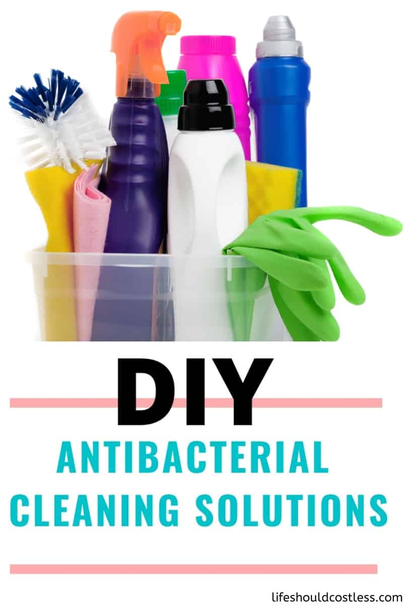 DIY Antibacterial/Sanitizing/Disinfecting Cleaning Solutions. If sanitizing wipes are not readily available, or you are just trying to save money/the environment, there are other options for killing germs.  How to dilute lysol disinfecting concentrate, how to dilute clorox bleach, how to dilute vinegar, how to dilute rubbing alcohol for disinfecting. lifeshouldcostless.com