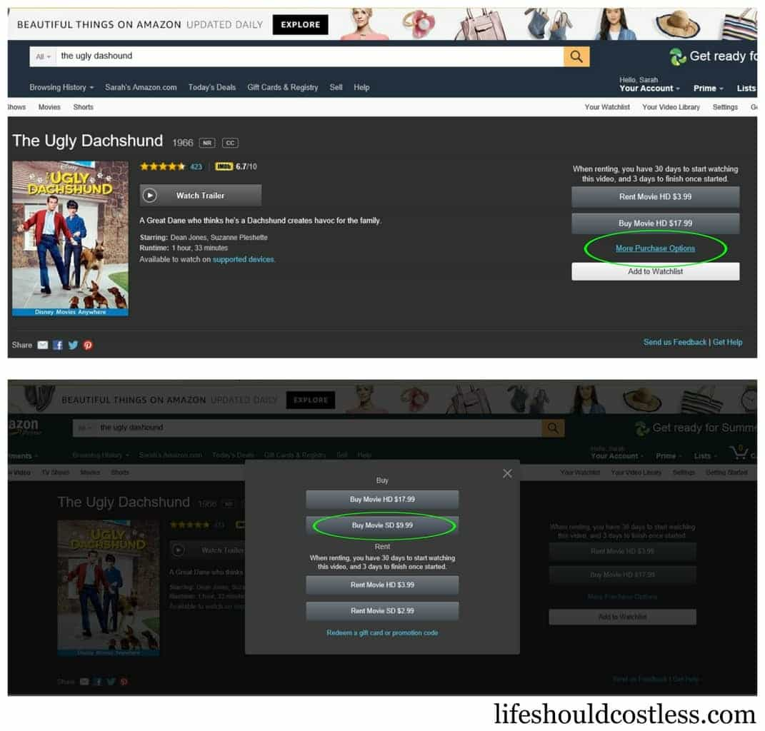 How I save money buying digital movies on Amazon.com