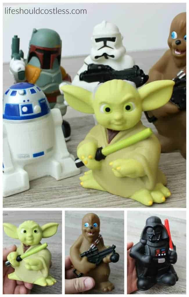 The most epic bath toys on planet earth! Star wars!