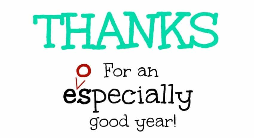 Thanks for an eospecially good year turquoise free printable small