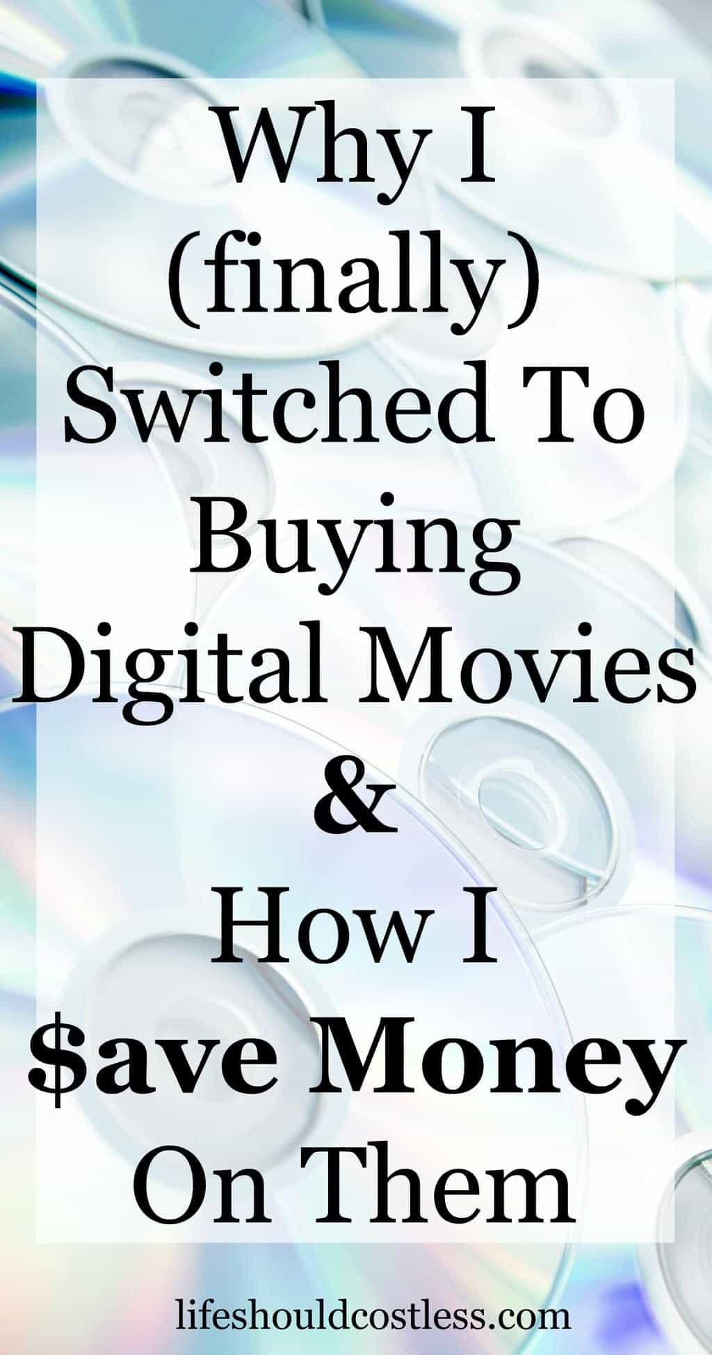 Why I finally switched to buying digital movies and how I save money on them. #amazontip #primetip {lifeshouldcostless.com}