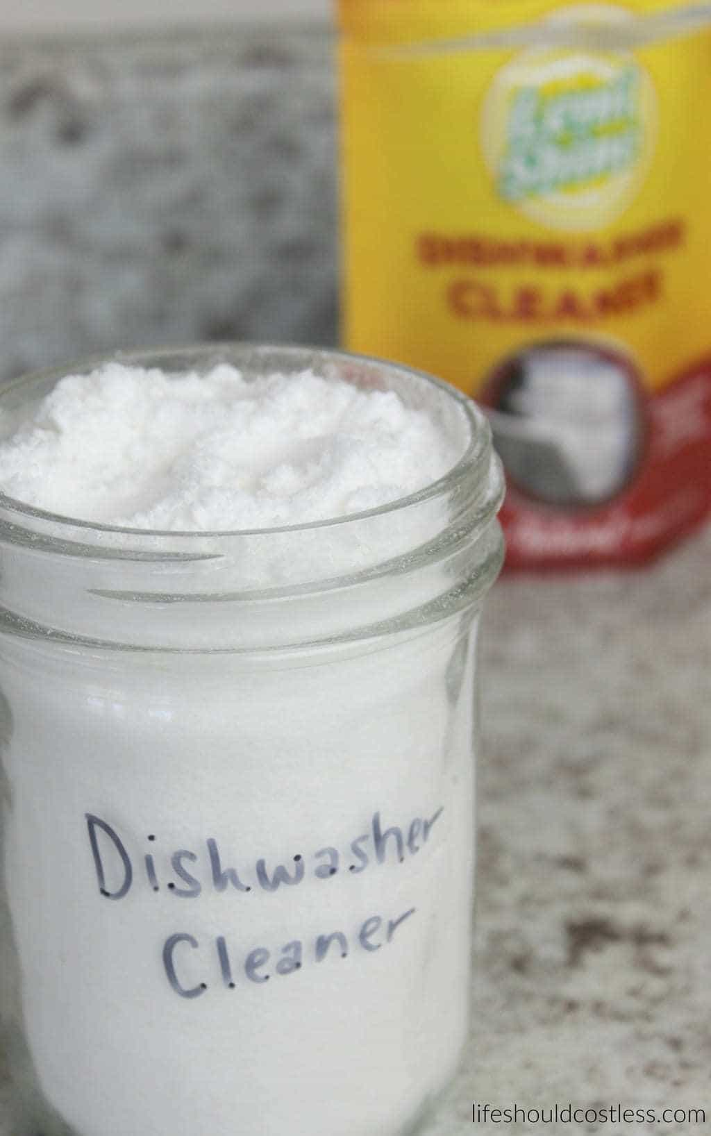 CopyCat Lemi Shine Dishwasher Cleaner Recipe. It works just like the real stuff but at a fraction of the cost.