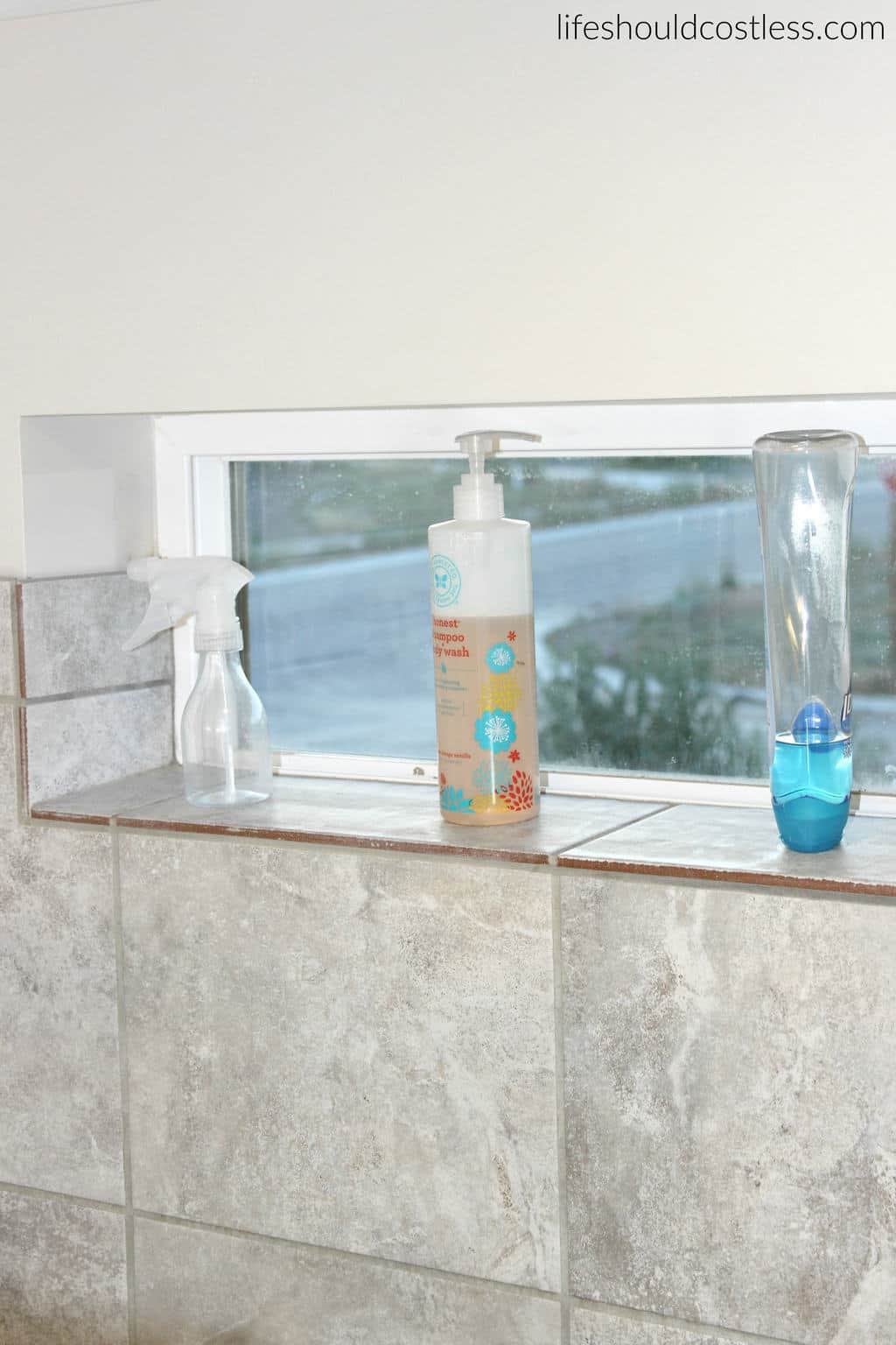 DIY Privacy Glass, Before. {lifeshouldcostless.com}