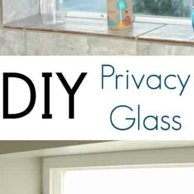 DIY Privacy Glass