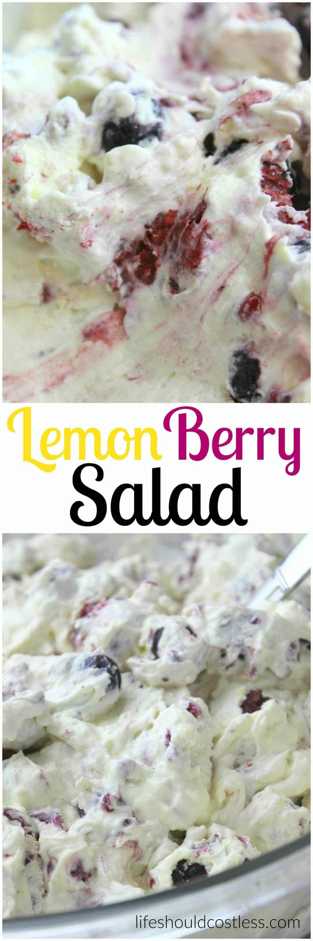The best part is that this Lemon Berry Salad is low-fat, high in protein, has just the right amount of lemon flavor and has a fantastic blend of different berries. It's knock your socks off good. lifeshouldcostless.com