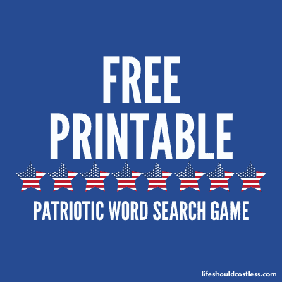 free word find printable game patriotic. lifeshouldcostless.com