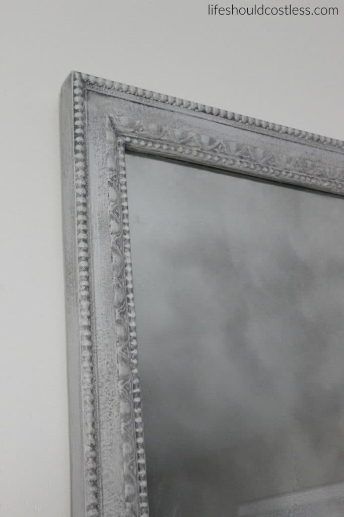 Huge print in frame turned faux antique mirror. After.