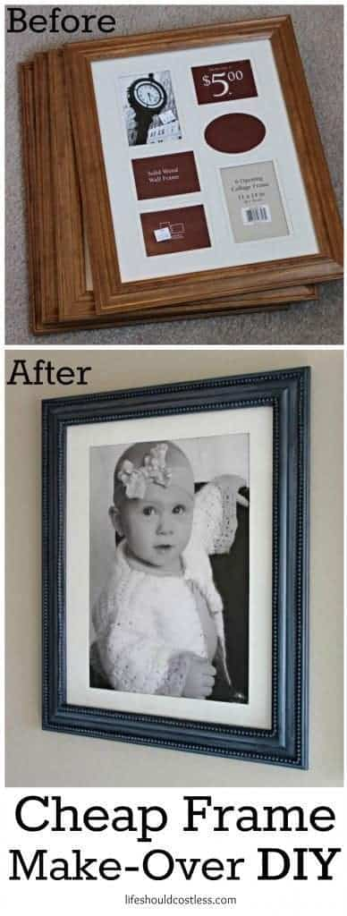 cheap frame make-over