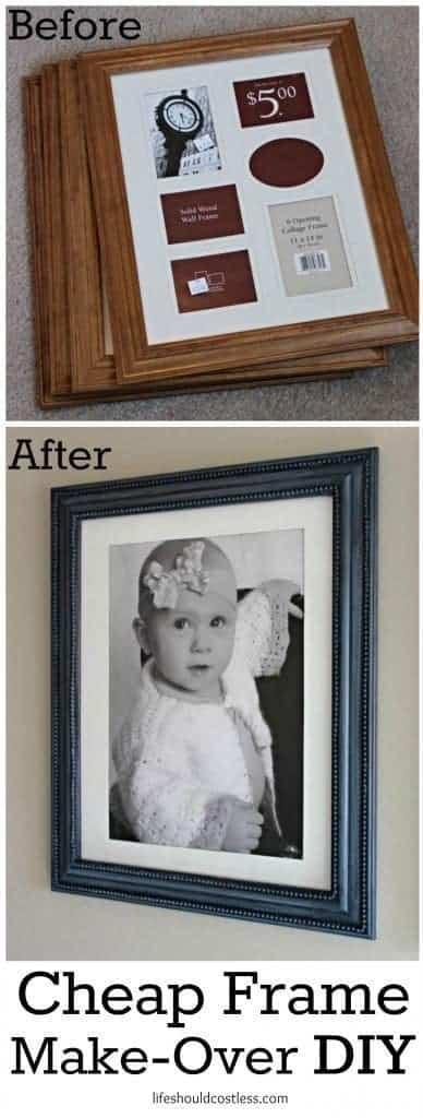 cheap frame make-over