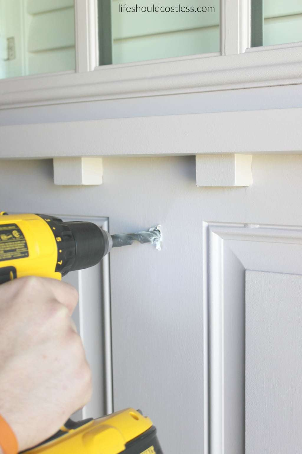DIY How to install a peep hole in your front door. It's so easy and inexpensive! It takes less than five minutes and costs less than ten bucks. See this popular DIY pin and many others at lifeshouldcostless.com.