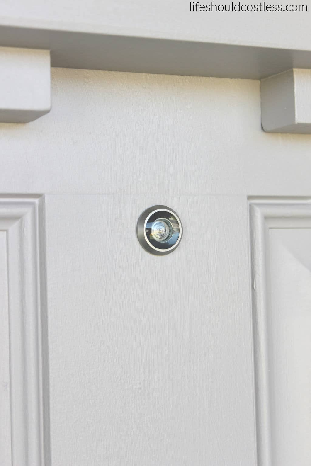 DIY How to install a peep hole in your front door. After 2.