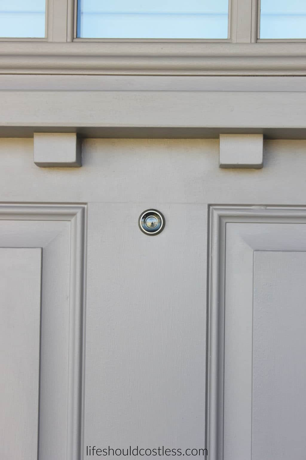 DIY How To Install A Peep Hole In Your Front Door.
