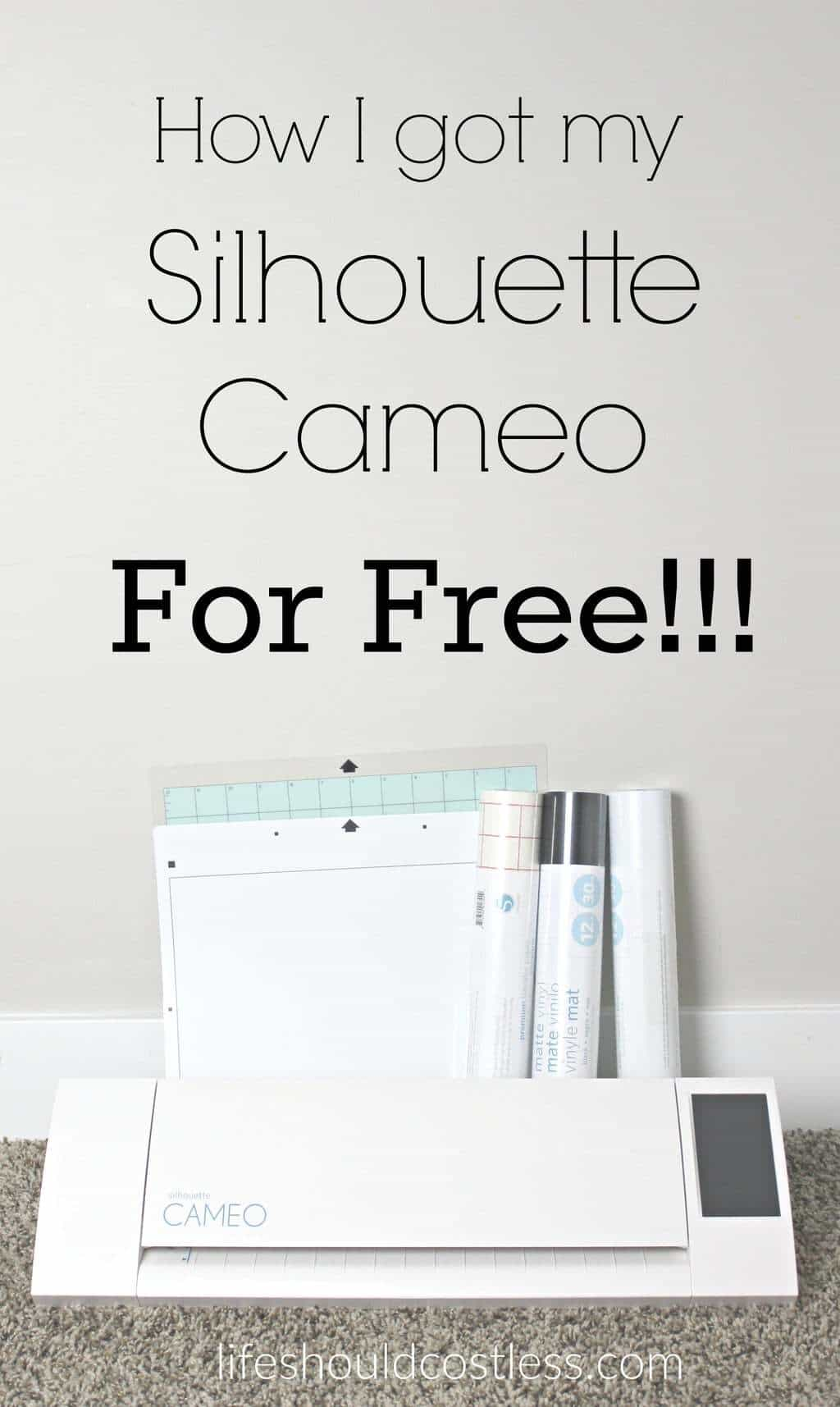 How I got my Silhouette Cameo for free!!! See post to learn how. lifeshouldcostles.... Free vinyl cutter. Best silhouette cameo pins.