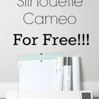 How I Got My Silhouette Cameo For Free!