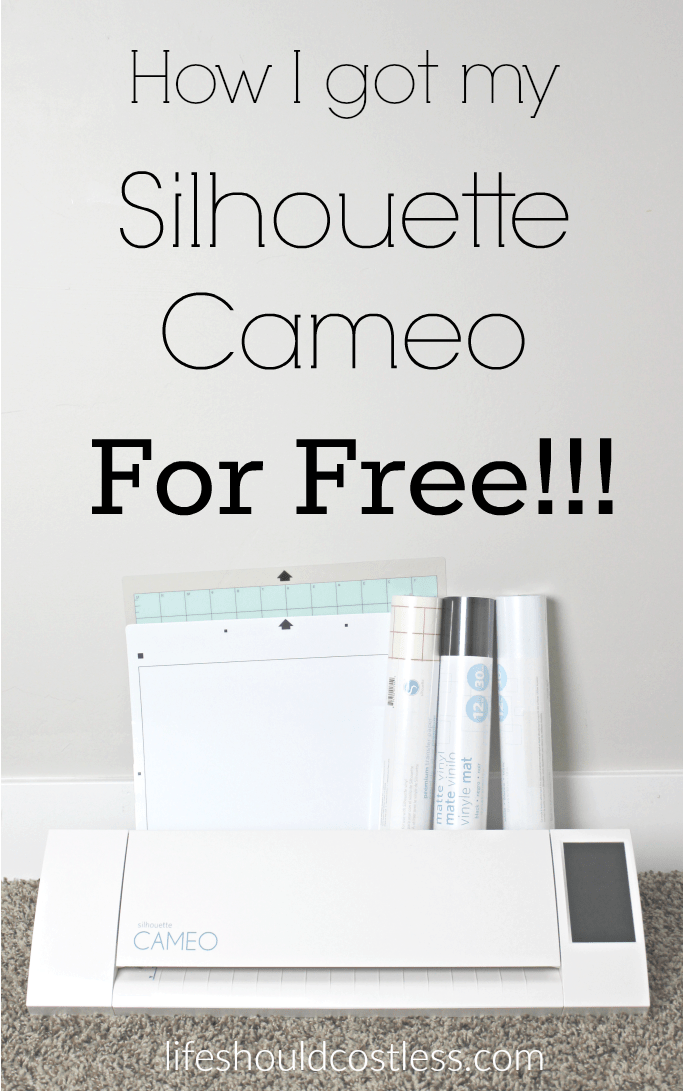 How I got my silhouette cameo for free.