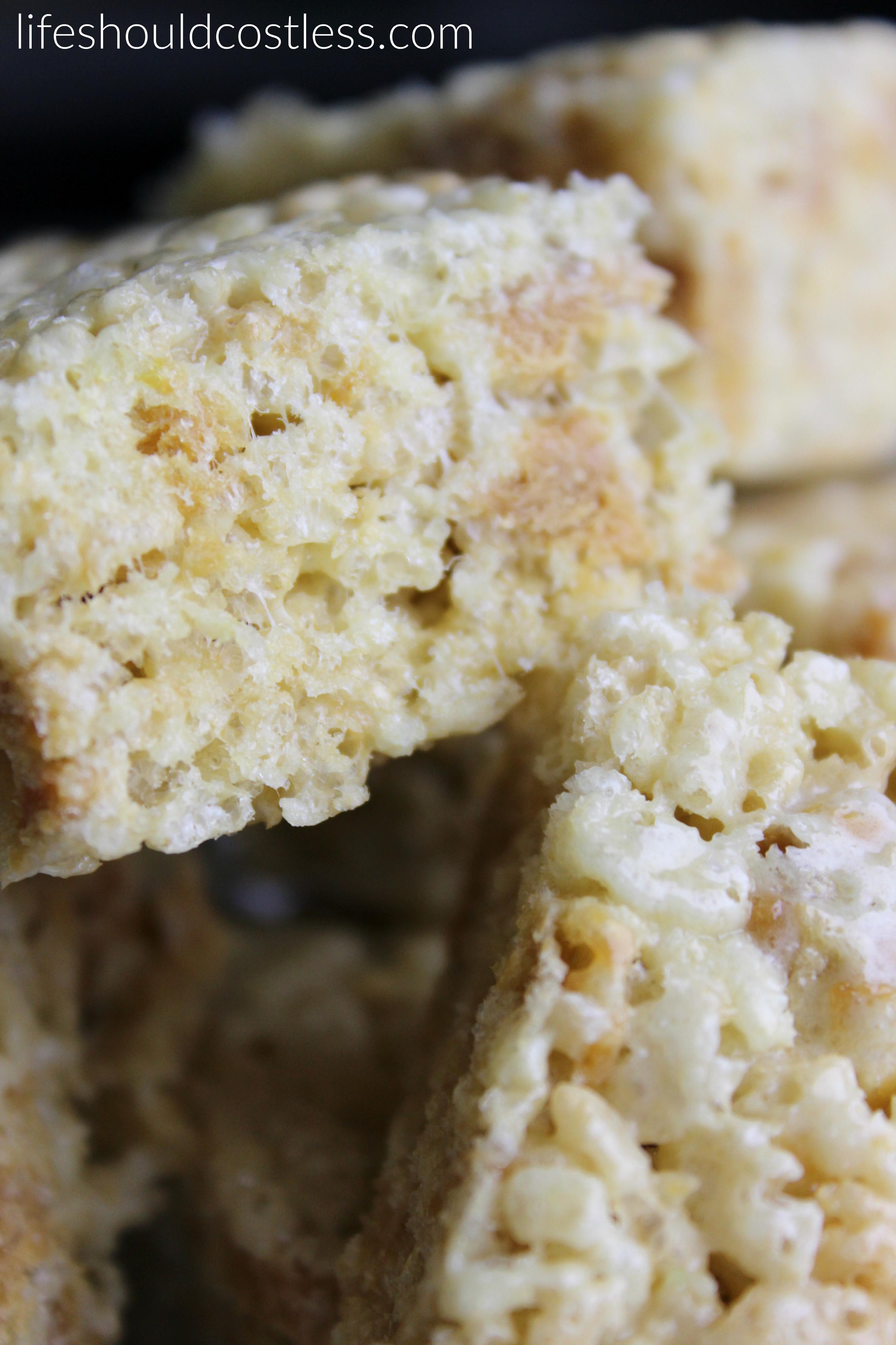Caramel Apple Rice Crispy Treats. Sour green apple and caramel.