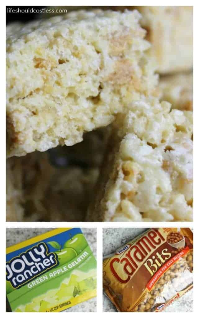 Caramel Apple Rice Crispy Treats. Sour green apple and caramel chunks will make this your new favorite recipe.
