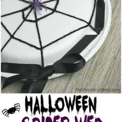 Halloween Spider Web Treat Plates