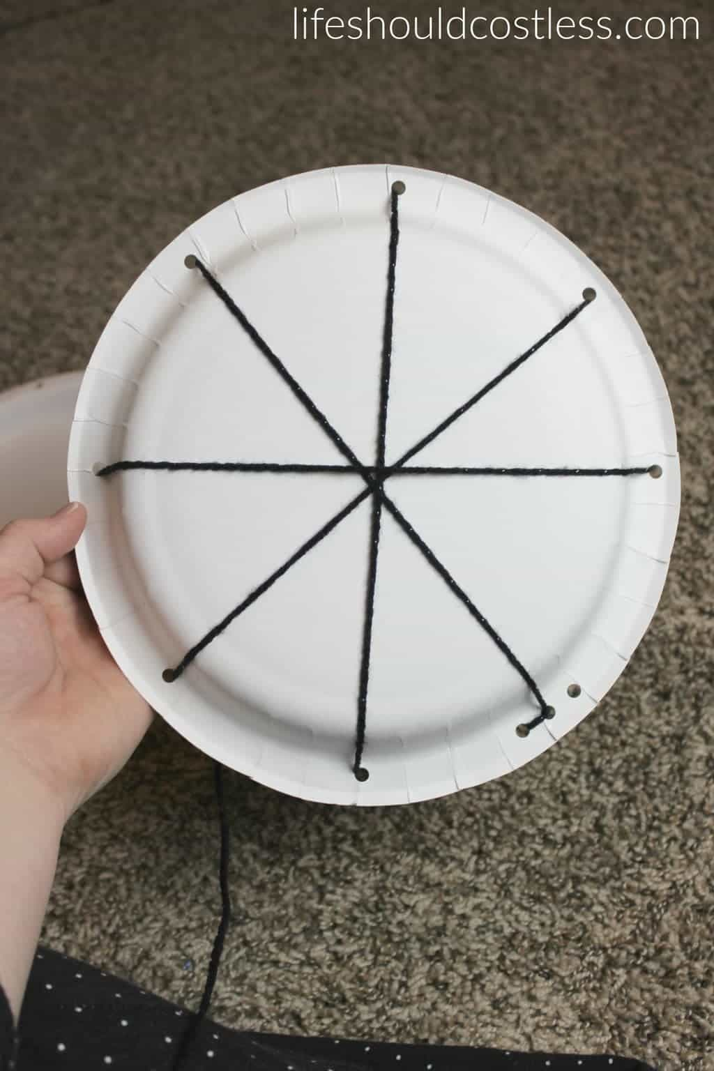 Halloween Spider Web Treat Plates. See this and many more popular seasonal pins at lifeshouldcostless.com.