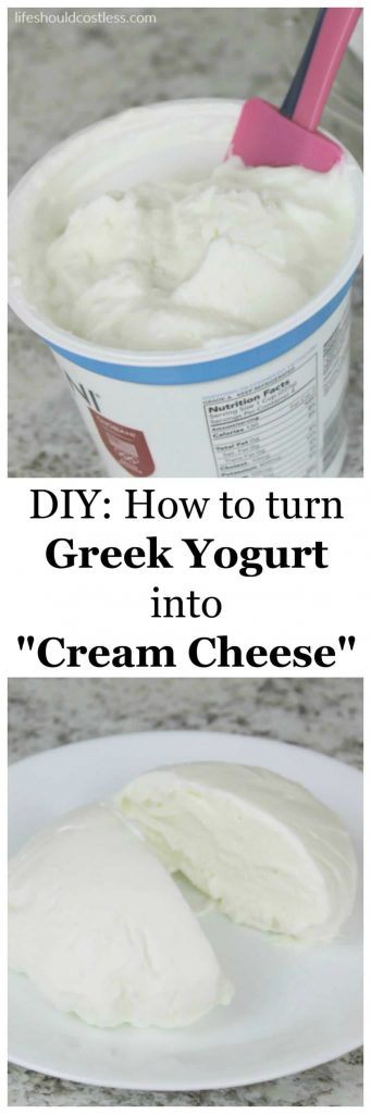 "How to turn greek yogurt into ""cream cheese"". A great way to transform all of your favorite fattening recipes into a protein packed, low-fat treat. lifeshouldcostless.com"