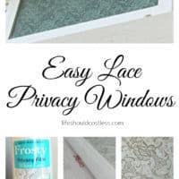 Easy Lace Privacy Windows