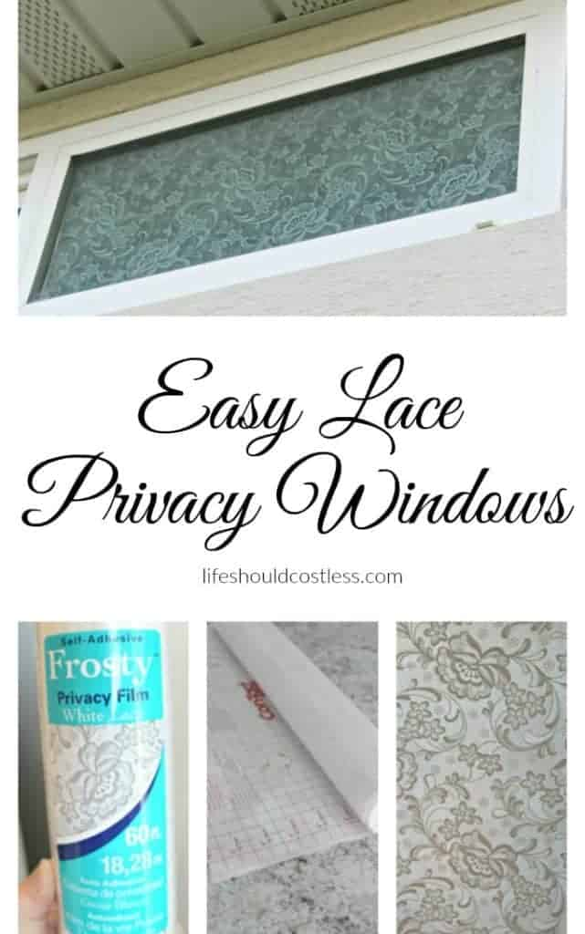 Easy Lace Privacy Windows.