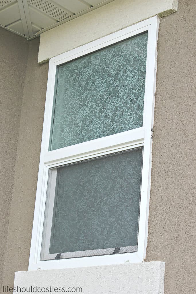 Easy Lace Privacy Windows Exterior View