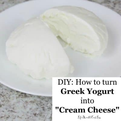 "DIY: How To Turn Greek Yogurt Into ""Cream Cheese"""