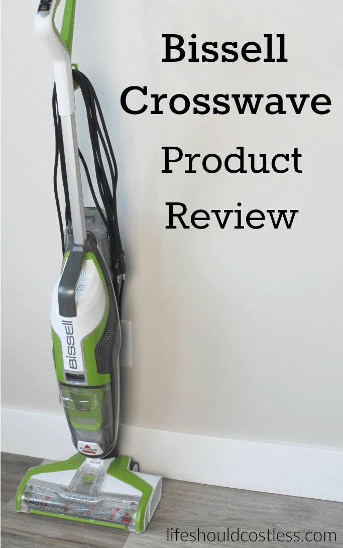 Bissell Crosswave Product Review. It sweeps and mops at the same time, but how well does it really work? Mom of four shares her thoughts at lifeshouldcostless.com.
