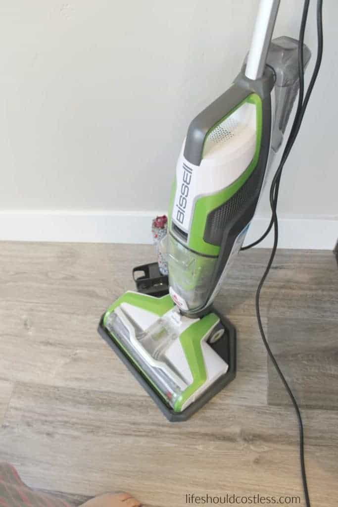 Bissell Crosswave Product Review. It sweeps and mops at the same time, but how well does it really work? Mom of four shares her thoughts at lifeshouldcostless.com. Best household floor cleaner!