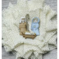 Three Minute Burlap Nativity Pin DIY