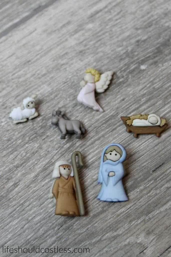 Three Minute Burlap Nativity Pin Tutorial.