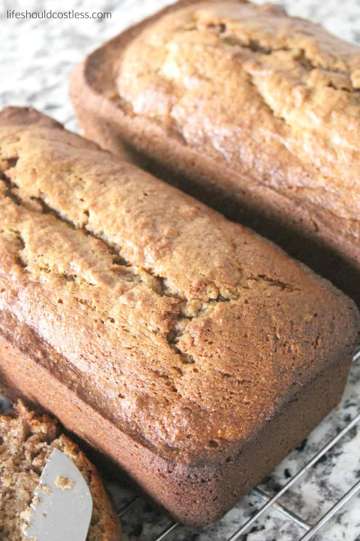 212 Recipe Yummy Delicious Banana Bread: Delicious Spiced Banana Bread. It's Got Just The Right