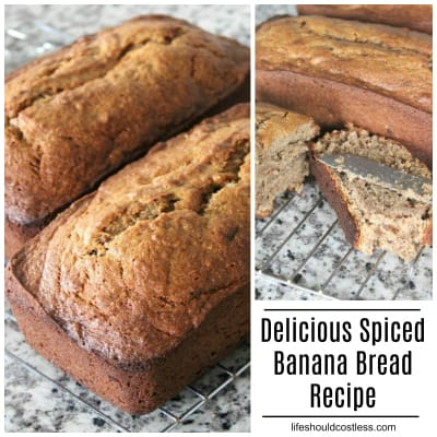 Delicious Spiced Banana Bread Recipe