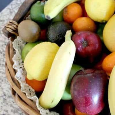 Easy DIY Burlap & Lace Fruit Basket