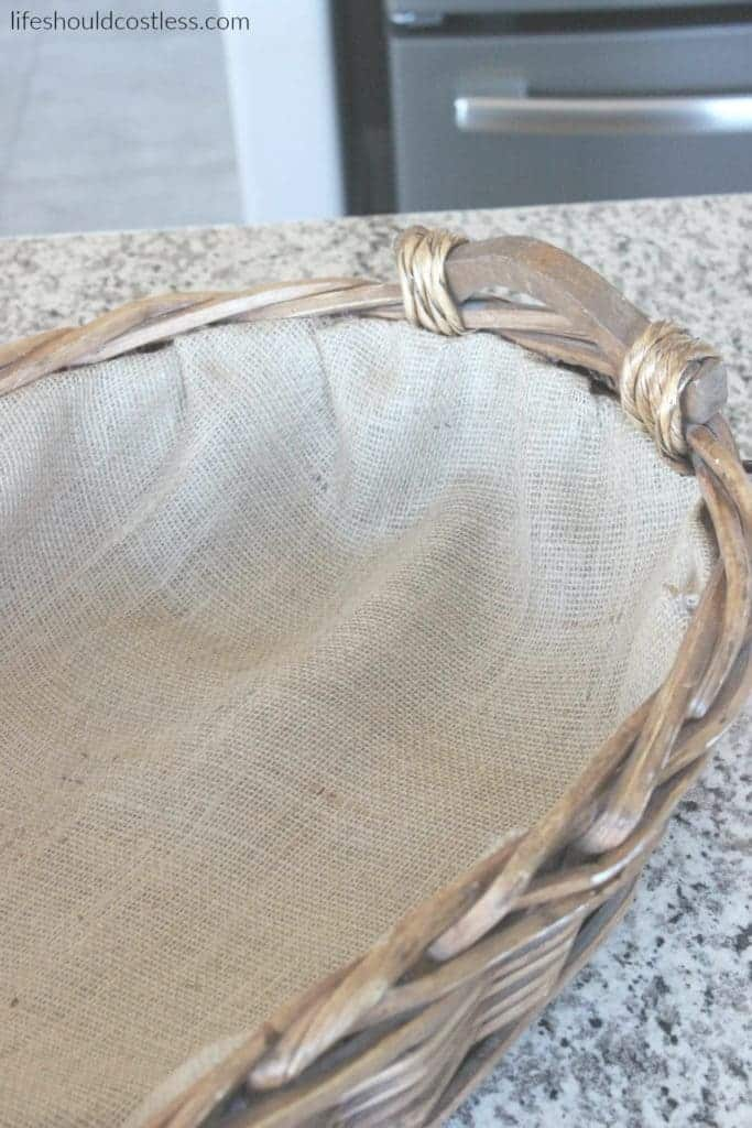 Easy DIY Burlap And Lace Basket