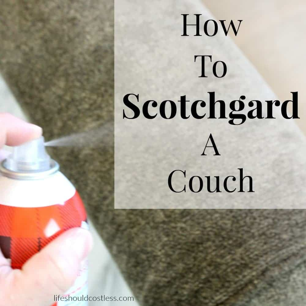 How To Scotchgard A Couch