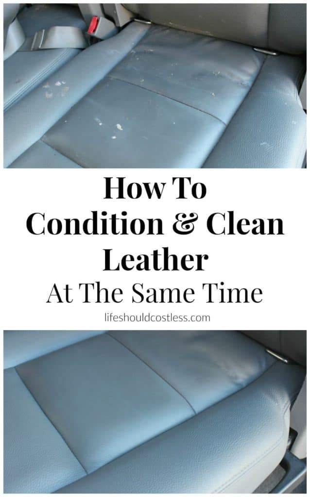 How To Condition And Clean Smooth Leather At the Same time.