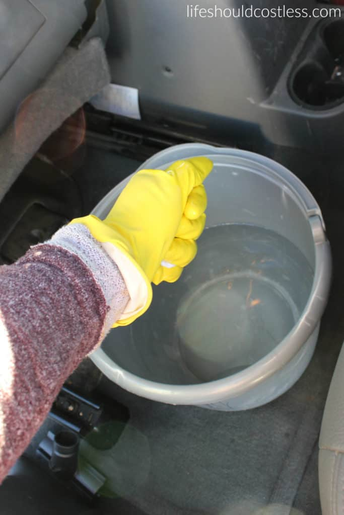 How to clean and condition leather at the same time. Saddle soap.