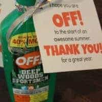 End Of Year Teacher Gift Using Off Insect Repellent {Free Printable}