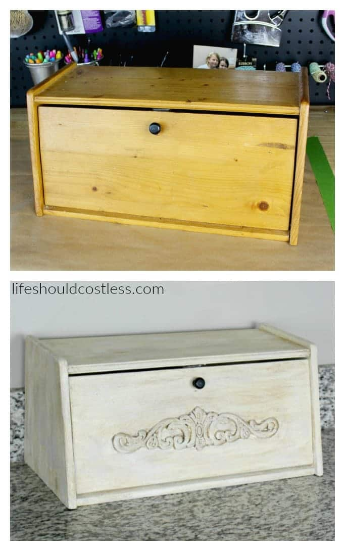 Bread box make-over. Before and after.