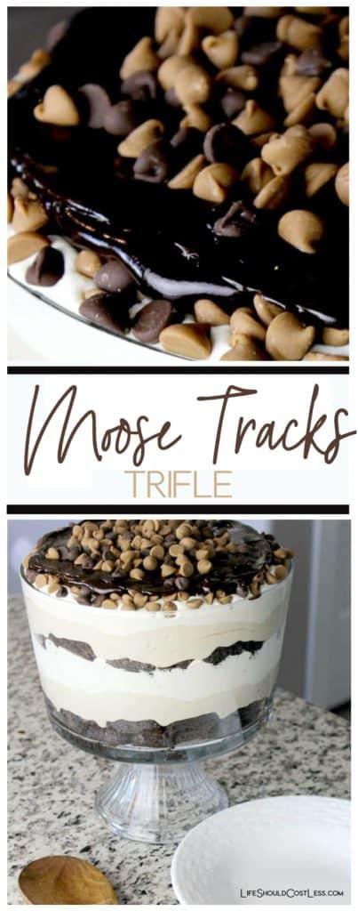 Moose Tracks Trifle. The best chocolate trifle recipe ever. lifeshouldcostless.com
